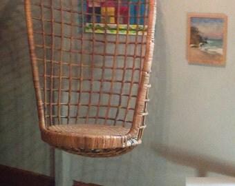 Egg Chair / Mid Century Rattan / Swing Chair/ Bohemian / Wicker / Boho