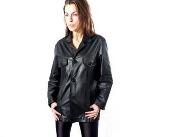 Vintage Men's Alpacino Black Blazer Jacket Size M