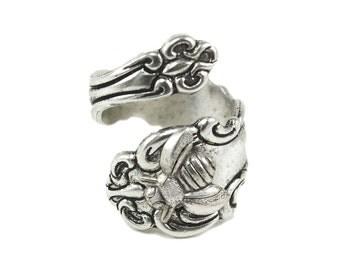 Bee Spoon Ring , Spoon Jewelry, Preppy Rings, Silver Spoon rings, Thumb rings