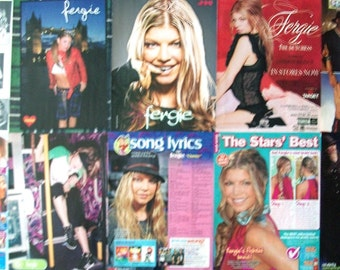 FERGIE ~ Black Eyed Peas, Wild Orchid, Kids Incorporated, Fergie Duhamel, Stacey Ferguson ~ Color and B&W Articles, Pin-Ups for Scrapbooking
