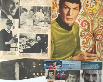 LEONARD NIMOY ~ Star Trek, Mission Impossible, Fringe, In Search Of, Spock ~ Color and B&W Clippings, Articles, Pin-Ups from 1967-1989