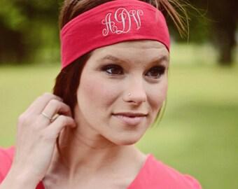 Monogram Headband, Embroidered Headband, Custom Headband, Personalized Headband, Embroidered Gift, Custom Gifts, Personalized Gift