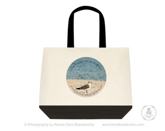 Seagull Beach Canvas Tote Bag
