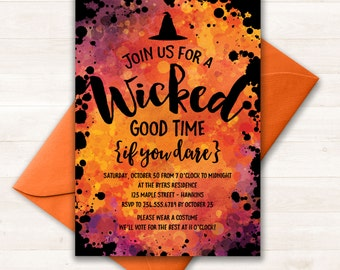 Halloween Invitation, Halloween Party Invitations, Halloween Invites, Costume Party Invitation, Adult Halloween Party, Printable Invitation