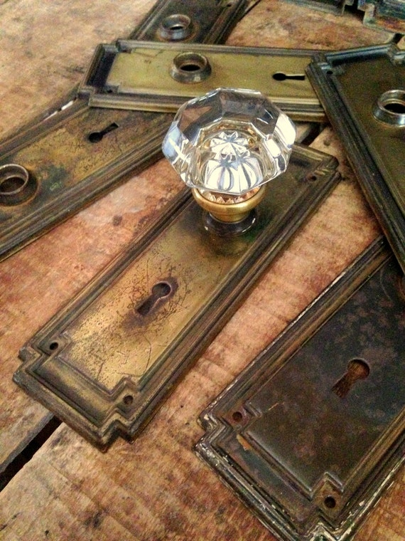 Antique Door Knob Escutcheon Door Knob Backplate With