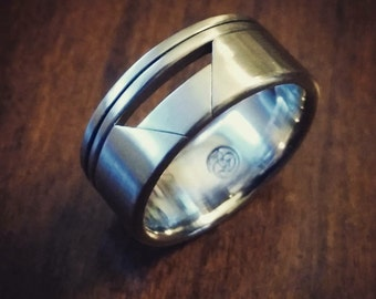 """17 """"SPECIE"""" handmade stainless steel ring (not casted)"""