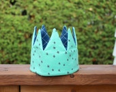 Kid Pretend & dress-up Crown birthday hat- seaglass blue and blue