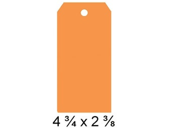 Orange Gift Tags, Large Tags, Gift Tags, Price Tags, Plain Tags, Large Tag Blanks, Hang Tags, orange hang tag, orange wish tag,  orange tag