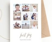 Holiday Photo Christmas Card | Just Joy | Instagram Holiday Greeting |  FREE SHIPPING | Printed Invitations or DIY