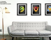 Legend of Zelda Ocarina of Time Spiritual Stones Art (Set of 3) Premium quality giclee archival fine art prints