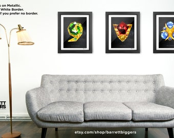 Legend of Zelda Ocarina of Time Spiritual Stones Art (Set of 3) Premium quality giclee archival fine art prints