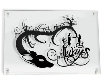 Harry Potter Quote After All This Time Severus Snape Lily Papercut Love Couple Wall Art Patronus Geek Gift Home Decor Harry Potter Gift