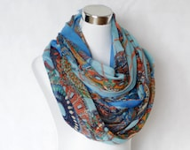 Blue Vintage Women Long Soft Cotton Voile Scarf Shawl Wrap Scarves with Amazing Mosaic Print Tribal Pattern schal loop scarf gift wheels