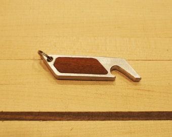 Hand Made Aluminum/Rosewood Keychain Bottle Opener