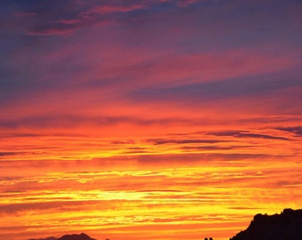 Southwest photograph, landscape photography, Arizona, sunset, nature print, vertical photo - Up to the Heavens