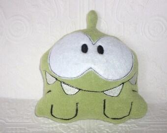 Green Monster Stuffy, Green Monster Toy, Monster Stuffed Toy, Stuffed Animal, Monster Softie, Monster Softy, Fleece Monster Stuffy Birthday
