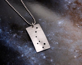 Ursa Minor Little Dipper constellation sterling silver necklace