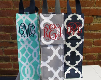 Personalized Wine Carrier - Monogrammed Wine Bottle Carrier - Wine Carrier - Insulated Wine Carrier