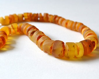 Natural Amber Necklace Luxury Natural Necklace Butterscotch Chunky Genuine Amber Yellow Statement Necklace Sunny Day