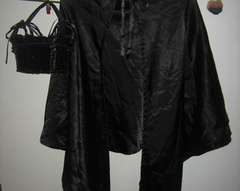 Red Riding Hood Basket, Wolf Nose & Handmade Black Cape - Halloween Costume