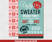 UGLY SWEATER INVITATIONS Christmas Holiday Party (print your own) Personalized Printable Files