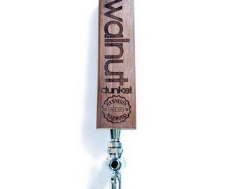 Custom laser cut beer tap handle with logo