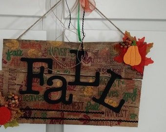 Pallet Sign Fall