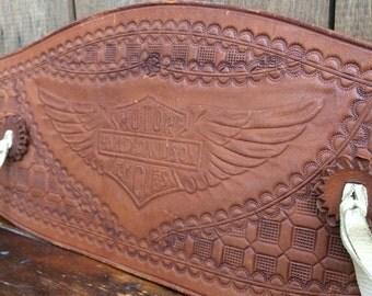 Antique Motorcycle Harley Davidson Hand Tooled Kidney Belt