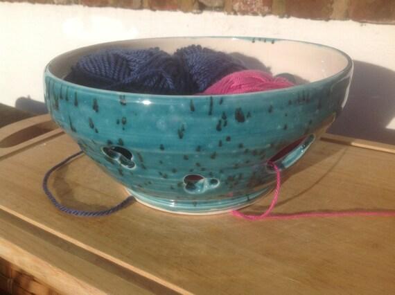 Knitting Bowl Uk : Extra large pottery yarn bowl uk knitting handmade