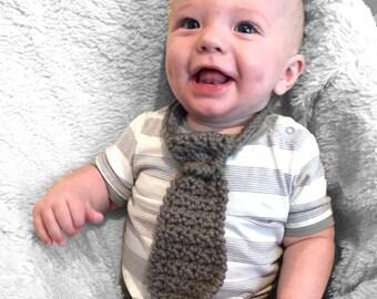 baby crochet neck tie, baby gift, baby photo prop, baby tie, baby bow tie, baby formal wear, baby boy bow tie, baby boy neck tie