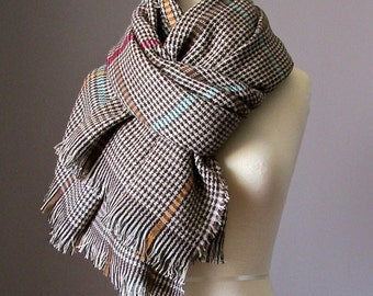 Plaid scarf,  chunky scarf, winter scarf,mens scarf, blanket scarf, oversized scarf