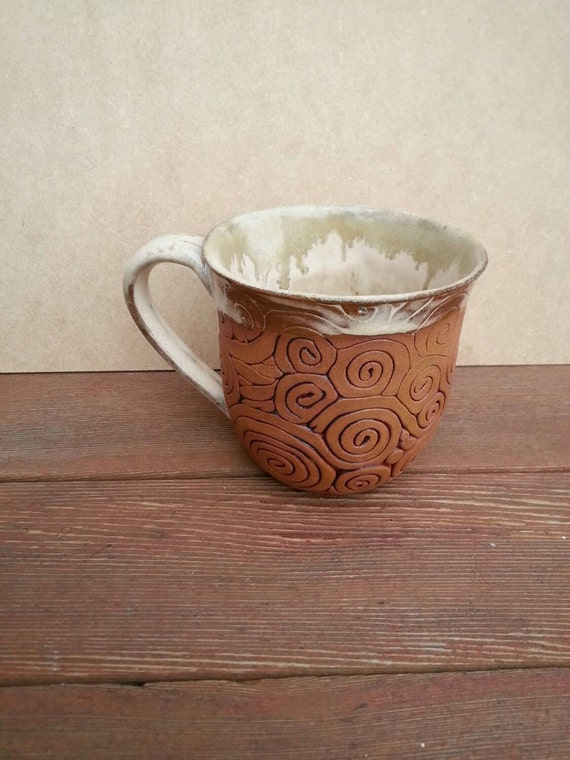 Coil Pottery MugMade to Order Choose your glaze color: