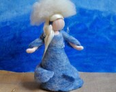 Rain Fairy Waldorf inspired needle felted doll:  Storm Maiden