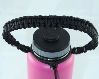 Black (Solid) Colored Paracord Handle