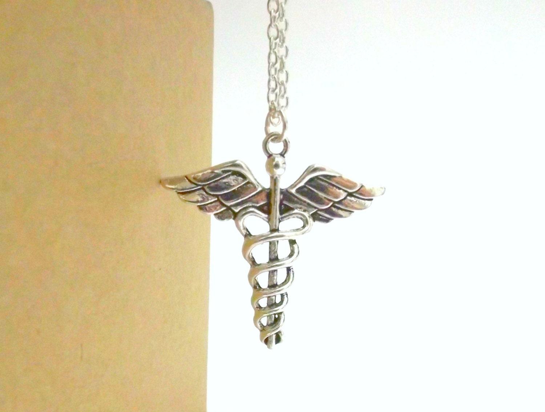caduceus necklace caduceus pendant necklace by