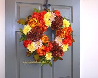 FREE hanger fall wreaths autumn wreaths Thanksgiving wreaths Halloween wreaths front door wreaths front door decor wreaths