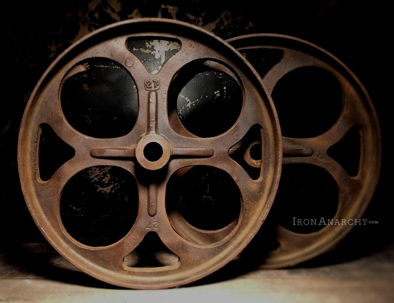 Vintage Industrial Factory Cart Coffee Table Wheels Haute Juice
