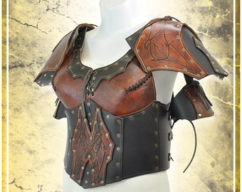 Leather Valkyrie's armor with shoulders