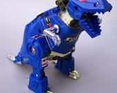 Vintage G2 Transformers Grimlock Blue Dinobot Figure