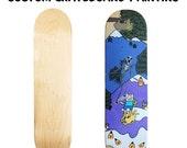 Custom Skateboard Painting.Custom Skateboard.Custom Skate Deck.Skate Deck Art.Painted Deck.Personalized Skateboard.Gift for Skater