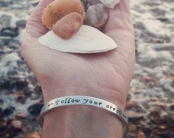 Follow Your Arrow Bracelet, Graduation Bracelet, Silver Inspirational Bangle, Valentines Day Gift, Follow Your Arrow, Arrow Bracelet, Grads