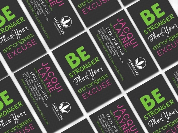 Herbalife Business Card Digital Template by