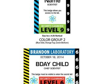 Scientist Badge • Option 1 • PRINTABLE