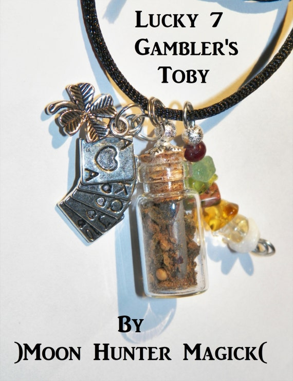 Good Luck Gambling Charm Bottle Necklace Pagan Wicca Reiki Ritual Lucky Amulet