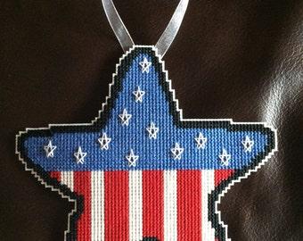 Cross stitch ornament