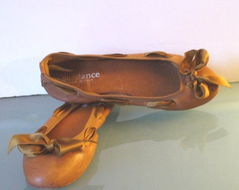 Sundance Made in Italy  Leather Ballet Flats Size 39EU