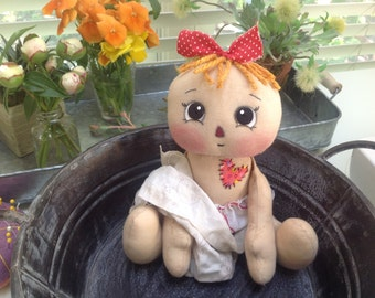Primitive rag doll, Ophelia