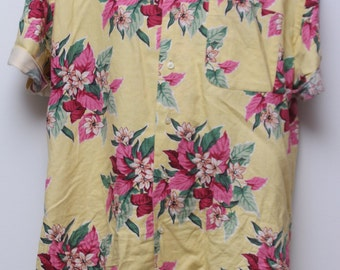 """Rare 90's Vintage """"POLO By RALPH LAUREN"""" Hawaiian Patterned Short-Sleeve Shirt Sz: Small (Men's Exclusive)"""