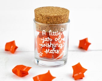 Personalised gift - motivational origami messages - A Little Jar of Wishing Stars - Personalised keepsake, gift for friend, Mothers Day Gift