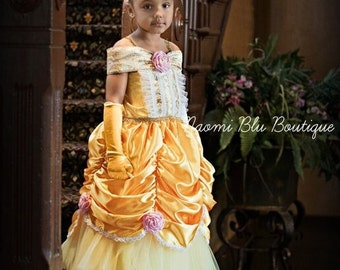 Disney Beauty and the Beast Belle Inspired Tutu Dress. For Princess birthdays, Themed parties, costume, Going to Disneyland. Sofia Gown